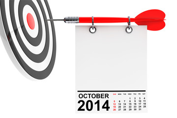 Calendar October 2014 with target