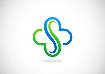 abstract S decorative vector logo