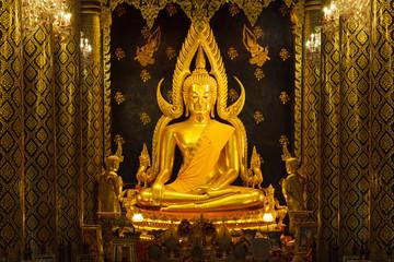 Phra Buddha Chinnarat at Phra Si Rattana Mahathat Temple ,Phitsa