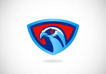 american eagle mascot vector logo