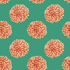 watercolor peony pattern