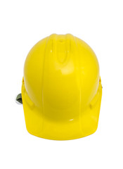 Front view of safety helmet on white with clipping path