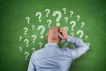 Question Mark on Blackboard