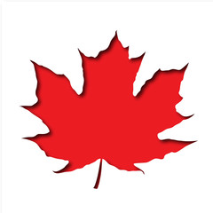Red Maple Leaf cutout