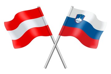 Flags: Austria and Slovenia
