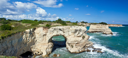 Torre dell'Orso cliff, panoramic view - Salento