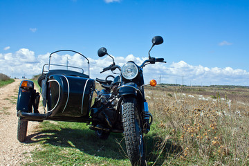 sidecar in countryside