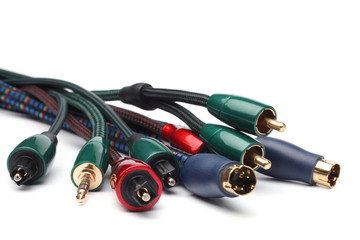 Group  of audio/video cables