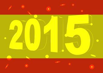 Новый 2015 год на фоне флага Испании