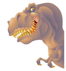T rex bust