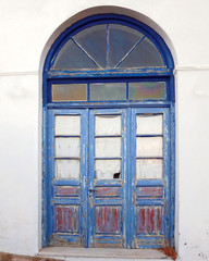 Greece Milos island, picturesque house arched door