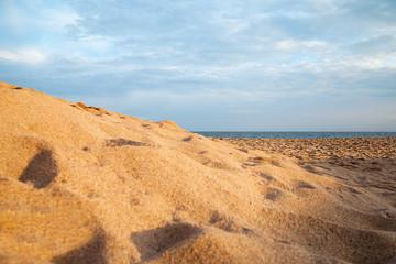 Beach sand.