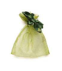 Original jewelry packing bag isolated