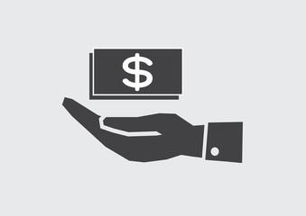 Hand Dollar Icon