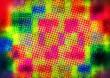 canvas print picture - farbig punktierter Hintergrund...