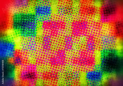 canvas print picture farbig punktierter Hintergrund...