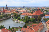 Wroclaw, view from cathedral tower towards Odra Sand Islands - 70781603
