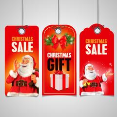 christmas gift santa claus tag