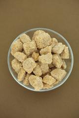 Brown cane sugar in a bowl