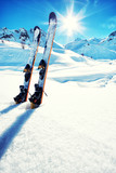 Fototapety Skis in snow at Mountains