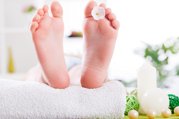child foot,  spa treatment