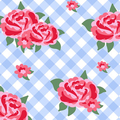 Pink roses background