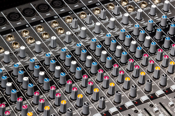Part sound board mixer