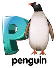 A letter P for penguin