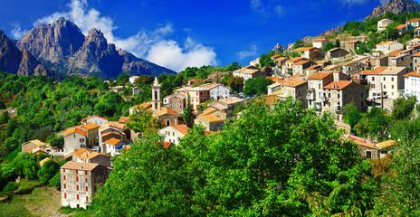breathtaking landscapes of Corsica - view of Evisa vilage
