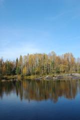 Autumn in Karelia, North of Russia