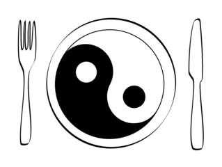 ausgewogene Ernährung Yin Yang