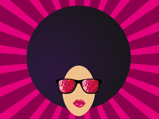 lunettes disco afro