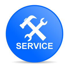 service internet blue icon