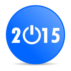 new year 2015 internet blue icon