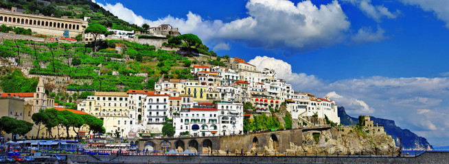 panorama of beautiful Amalfi, Italy