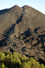 Volcanic Cone And Cooled Lava In Etna National Park, Sicily