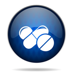 pills internet blue icon