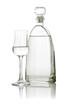 canvas print picture - gefülltes Grappaglas mit Flasche