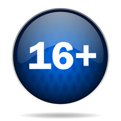 16 years internet blue icon