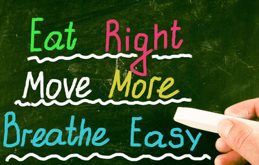 eat right move more breathe easy