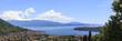 canvas print picture - Blick auf den Gardasee und dem Ort San Felice del Benaco