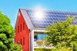 Solardach mit Sonne