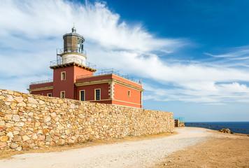 Lighthouse Capo Spartivento. Sardinia island. Italy.