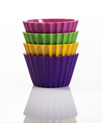 Four colorful cups inside each other