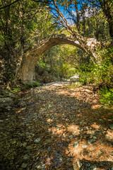 Ponte Sottano bridge near Corscia in Corsica
