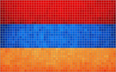 Mosaic Flag of Armenia