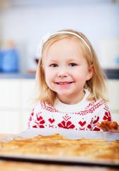 Little girl at kitchen