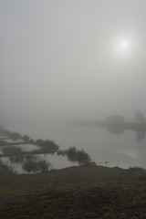 The sun is now coming through the mist