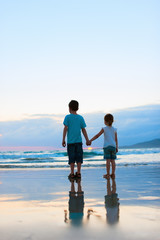 Two kids at beach