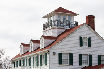 Coastal House with Dormers and Widows Walk